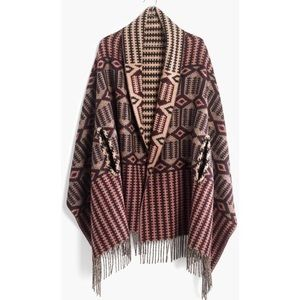 Madewell Reversible Cape scarf in Geo